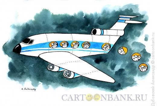 Карикатура: самолёт, Дубовский Александр