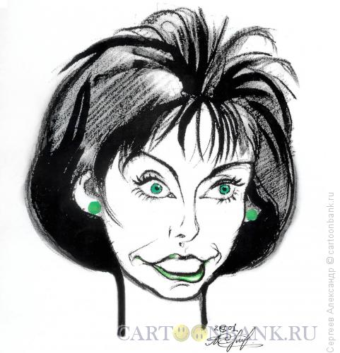 Карикатура: Миткова Татьяна, телеведущая НТВ, Сергеев Александр