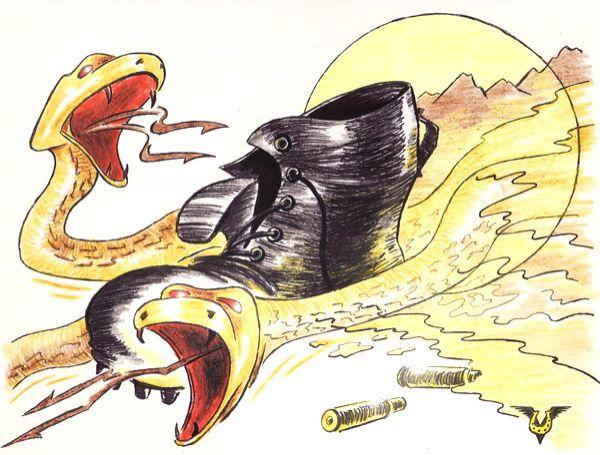 Карикатура: Песочные змеи (15 февраля), Владимир Уваров
