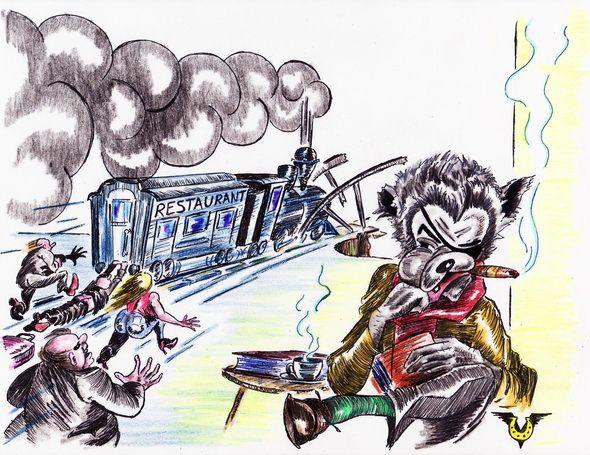 Карикатура: Недогоняющий, Владимир Уваров