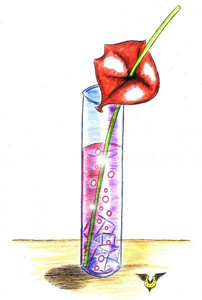 Карикатура: Пьянящий поцелуй, Владимир Уваров