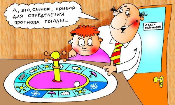 Карикатура: Прогноз, Александр Хорошевский