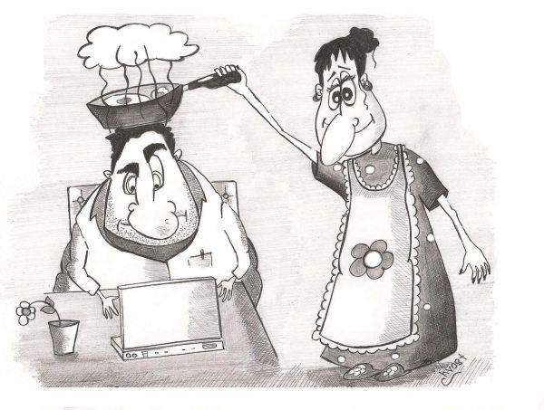 "Карикатура: ""Закипел"", Роман Васько"