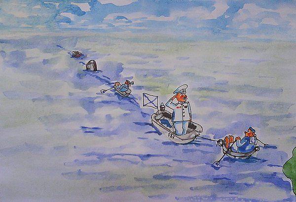 Карикатура: Черноморский флот., владимир ву
