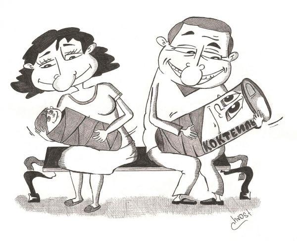Карикатура: Лучший друг молодёжи - Алкоголь