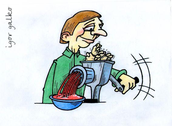 Карикатура: крутит фиги, IgorHalko
