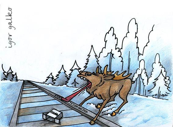 Карикатура: лов лосей, IgorHalko