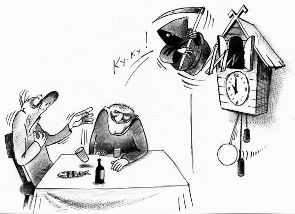 Карикатура: Ку-ку!, Сергей Корсун