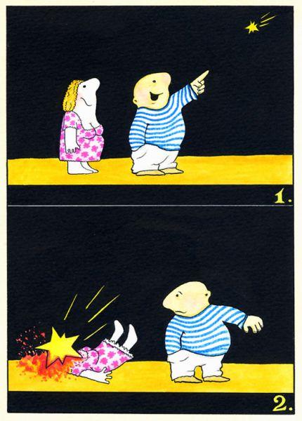 Карикатура: Звездопад, Resakur