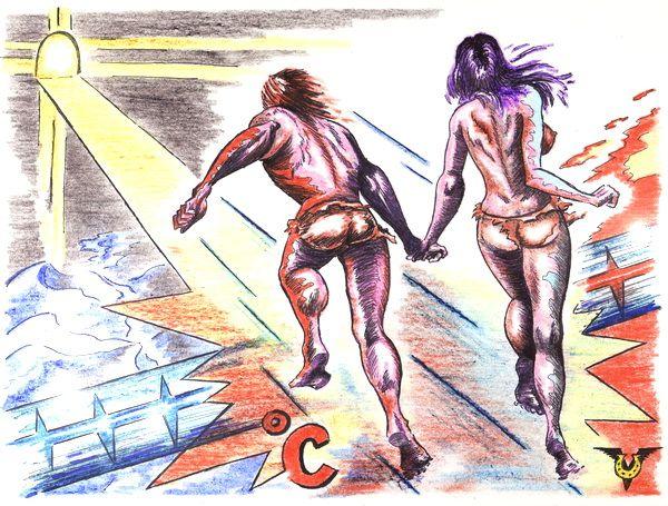Карикатура: Между льдом и пламенем ( С Днем Св. Валентина!))), Владимир Уваров