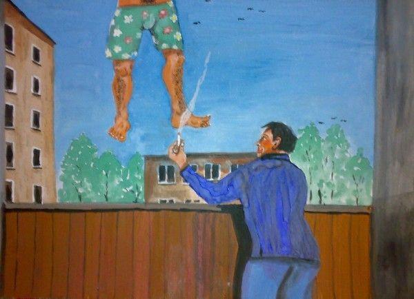Карикатура: Вид с балкона., владимир ву