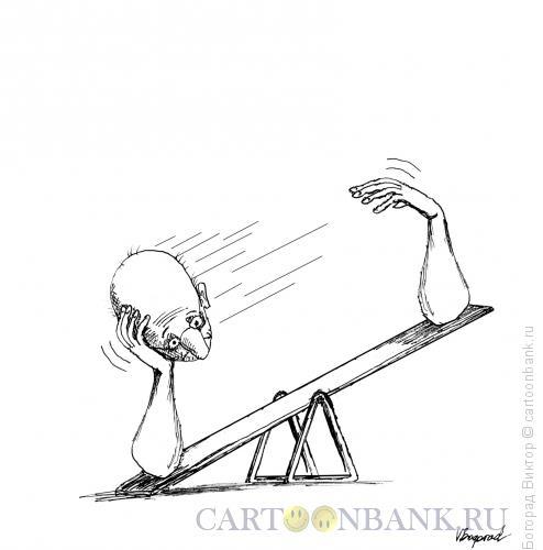 Карикатура: Раздумья, Богорад Виктор