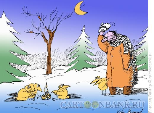Карикатура: К костру, Богорад Виктор