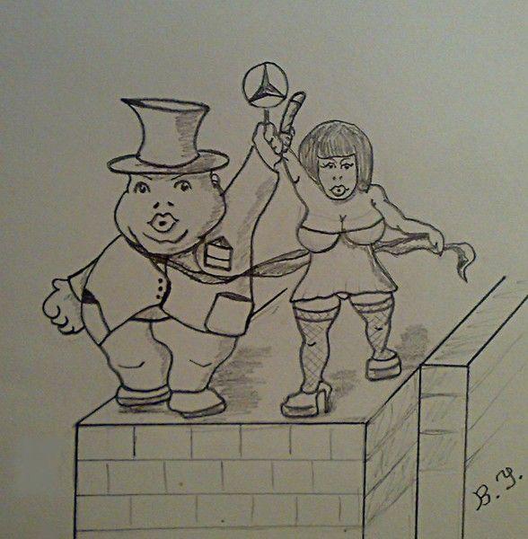 Карикатура: Буржуй и проститутка., владимир ву