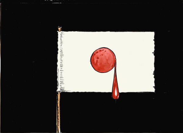 Карикатура: Япона  мать, Избасаров Бауржан