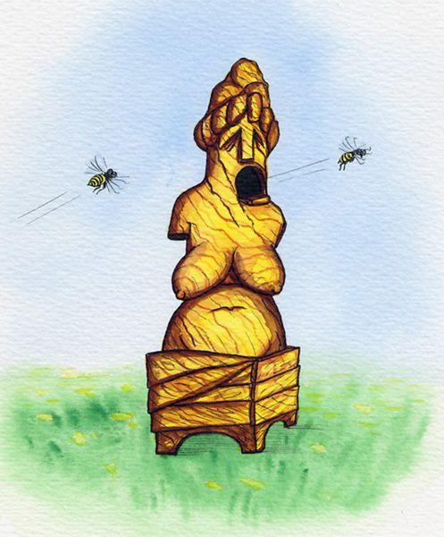 Карикатура: Венера-улий, Resakur