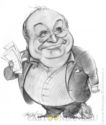 Карикатура: Жванецкий Михаил, писатель, Сергеев Александр