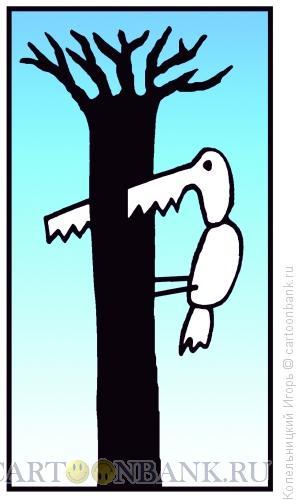 Карикатура: птица пила, Копельницкий Игорь