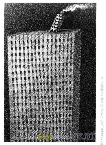 Карикатура: пизанская башня, Копельницкий Игорь