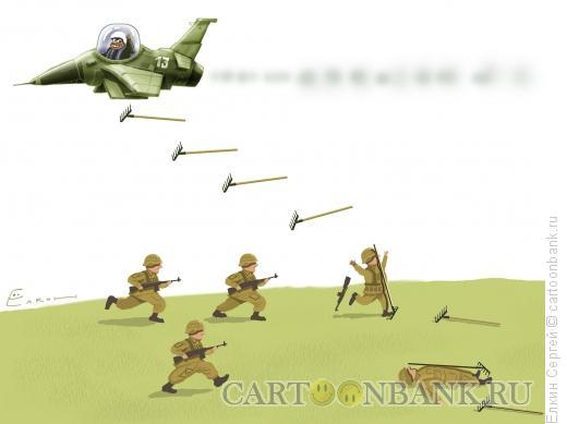 Карикатура: Опять война, Ёлкин Сергей
