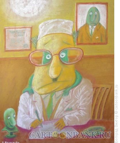 Карикатура: Доктор и зеленые человечки, Богорад Виктор