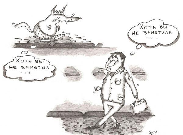 Карикатура: Люди делают бездомных собак злыми