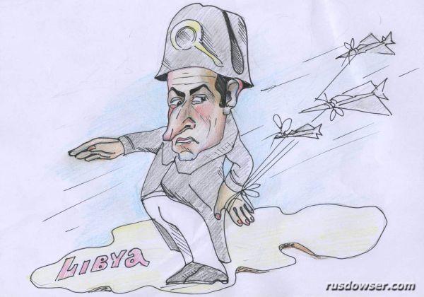 Карикатура: Не влез к Обаме...