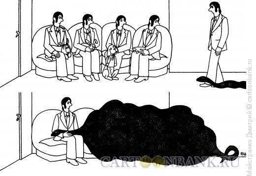 Карикатура: У ветеринара (удав), Майстренко Дмитрий