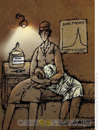 Карикатура: Осеннее обострение, Камаев Владимир