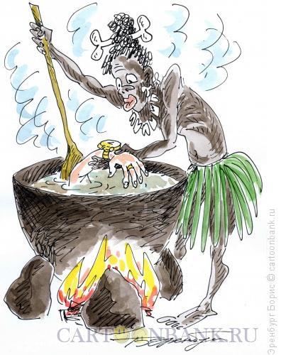 Карикатура: Каннибал, Эренбург Борис