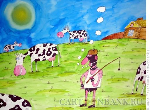 Карикатура: Пастух в коже, Шилов Вячеслав