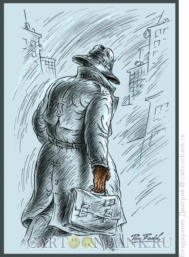 Карикатура: Современный человек, Бондаренко Дмитрий