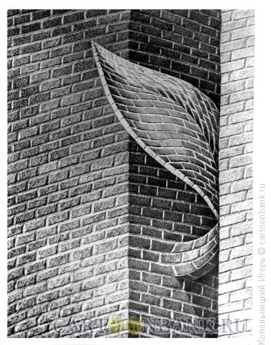 Карикатура: лист из кирпича, Копельницкий Игорь