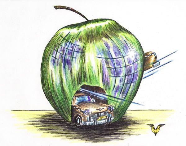 Карикатура: ( города), Владимир Уваров