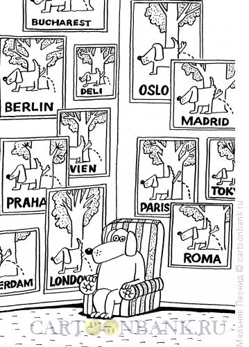 Карикатура: Путешественник, Мельник Леонид