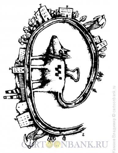 Карикатура: Собака, Камаев Владимир