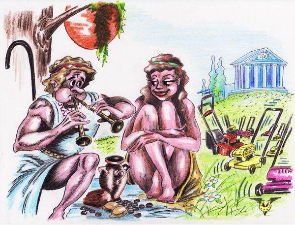 Карикатура: Пастушок, Владимир Уваров