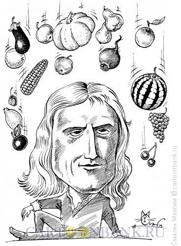 Карикатура: Ньютон Исаак, Смагин Максим