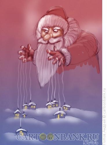Карикатура: Зимнее настроение, Попов Андрей