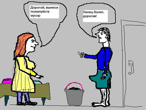 Карикатура: Мусорное ведро, Афоня