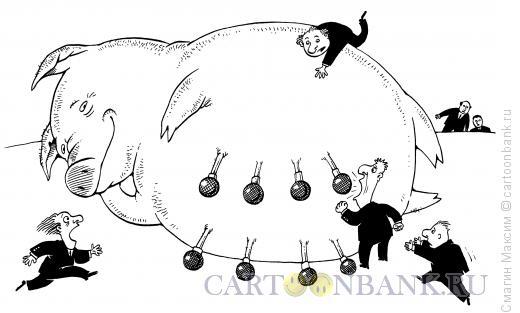 Карикатура: Свинья с микрофонами, Смагин Максим