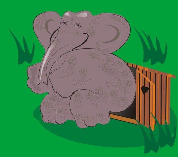 Карикатура: Слоненок вырос., владимир ву
