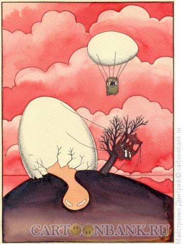 Карикатура: Полет яйца, Майстренко Дмитрий