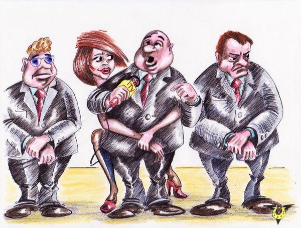 Карикатура: Vip-интервью, Владимир Уваров