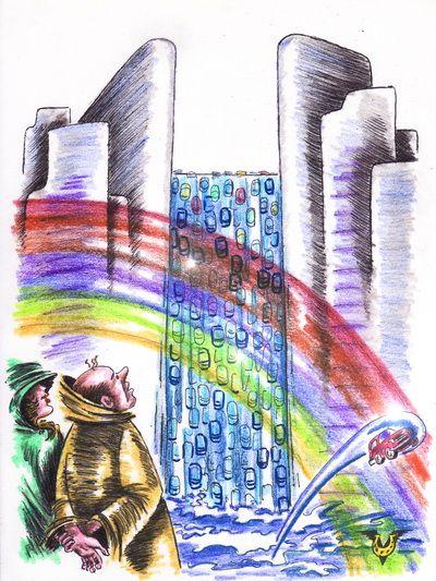 Карикатура: Ниагара, Владимир Уваров