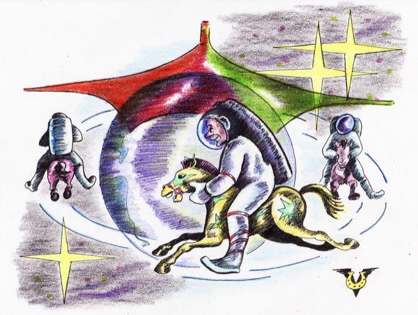 Карикатура: Карусель, Владимир Уваров