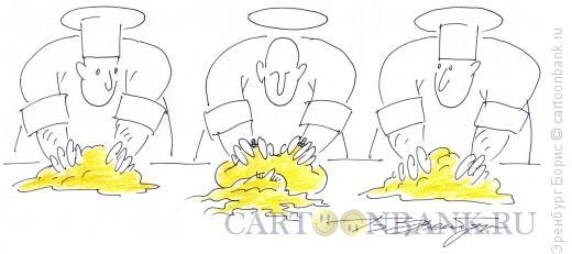 Карикатура: Созидание женщины, Эренбург Борис
