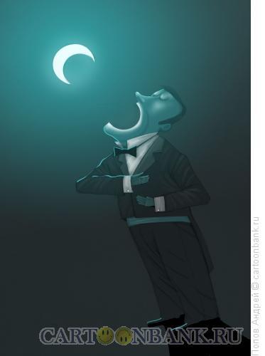 Карикатура: Лунная песня, Попов Андрей