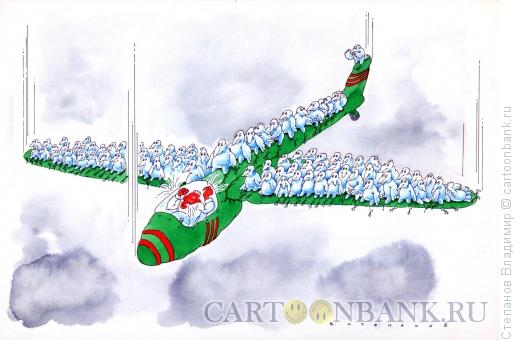 Карикатура: Перелетные птицы, Степанов Владимир