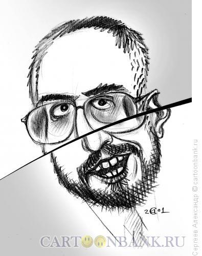 Карикатура: Сванидзе Николай, журналист, Сергеев Александр
